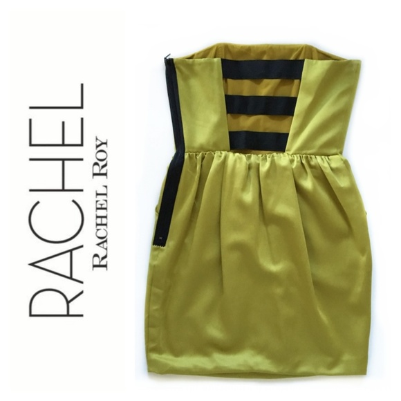 RACHEL Rachel Roy Dresses & Skirts - Satin Strapless Party Dress with Caged Open Back